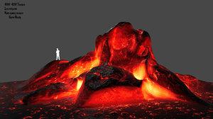 lava rocks 3D