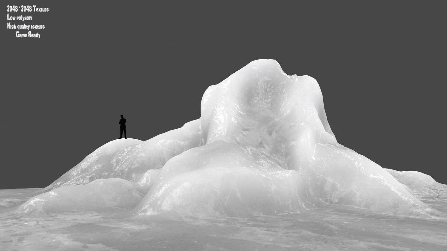 3D model ice rocks