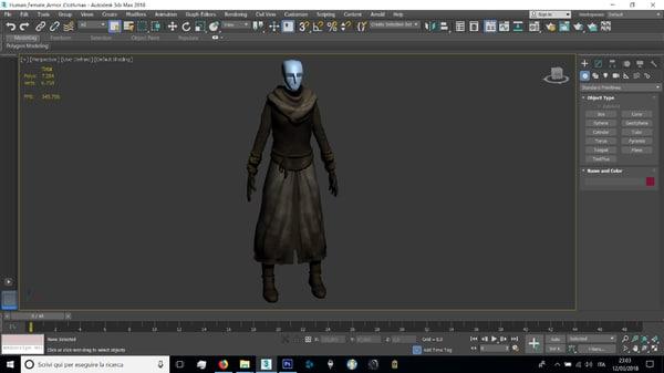 human female cloth model