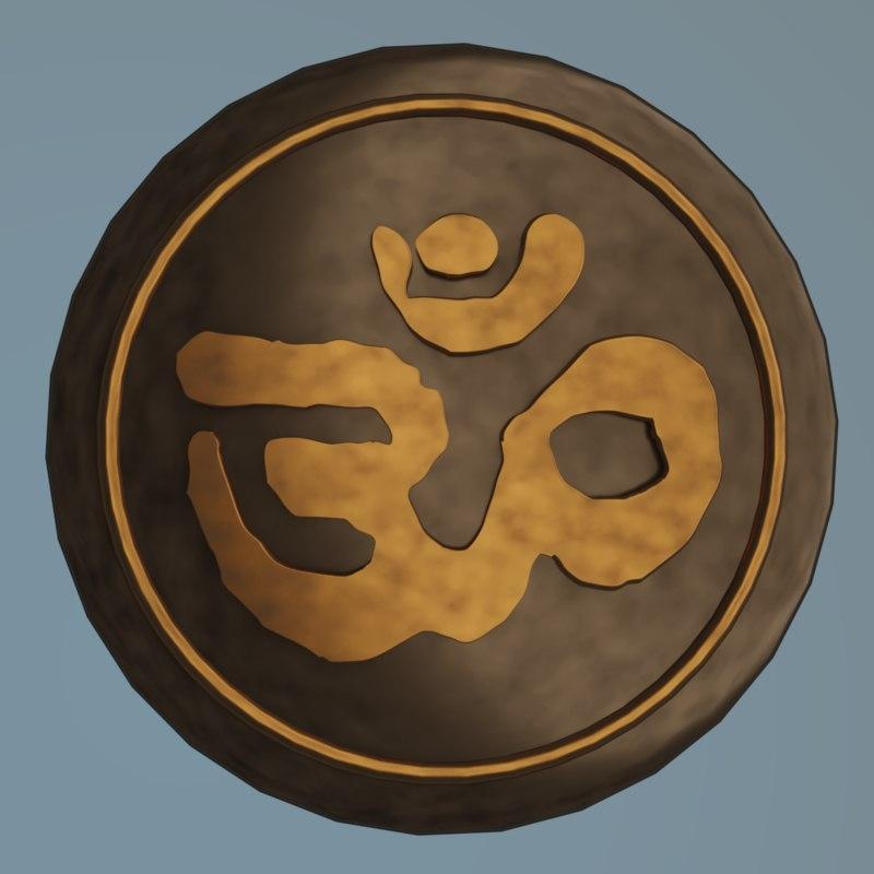 3D symbol aum om