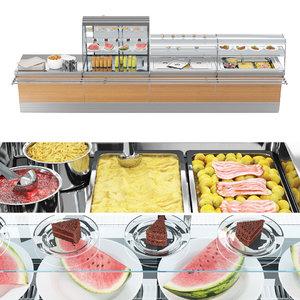 3D showcase desserts