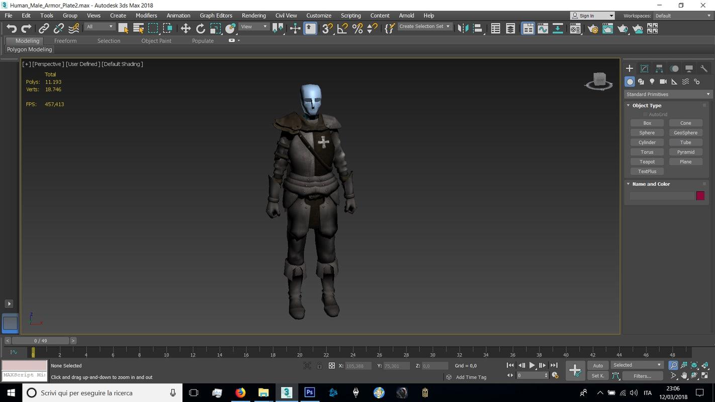human male plate 3D model