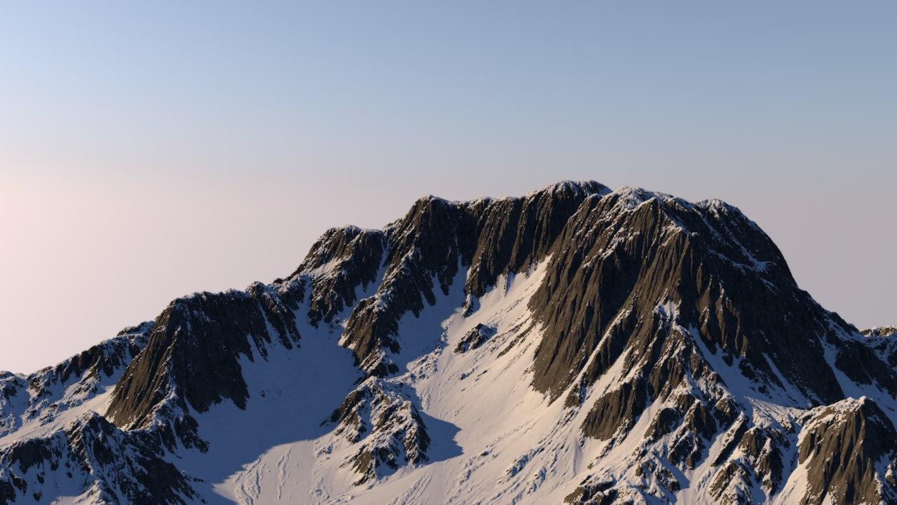 snowy mountain 3D model