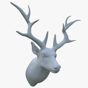 3D deer head scarecrow model