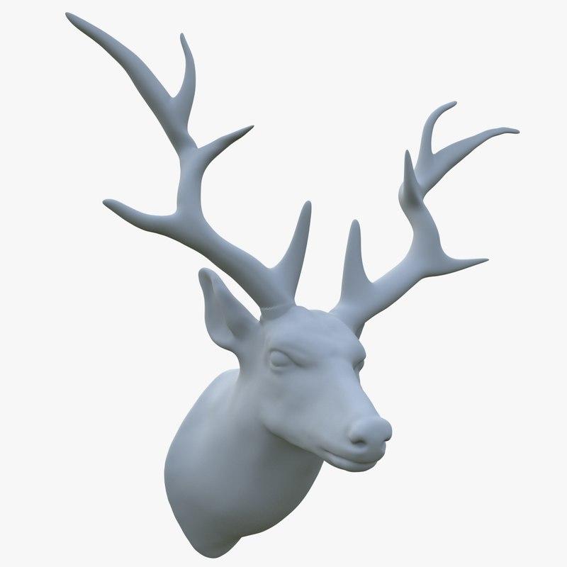3D deer head scarecrow model
