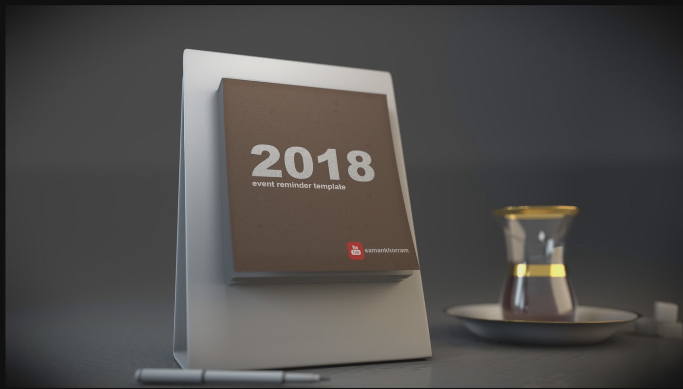 3D calendar fly pages animation model