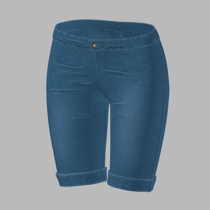 jeans shorts 3D