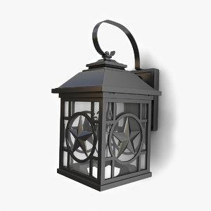 3D model outdoor wall lantern 13