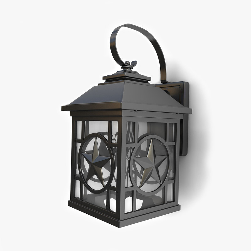 3D model outdoor wall lantern 13