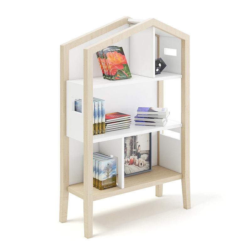 house shape shelf 3D model
