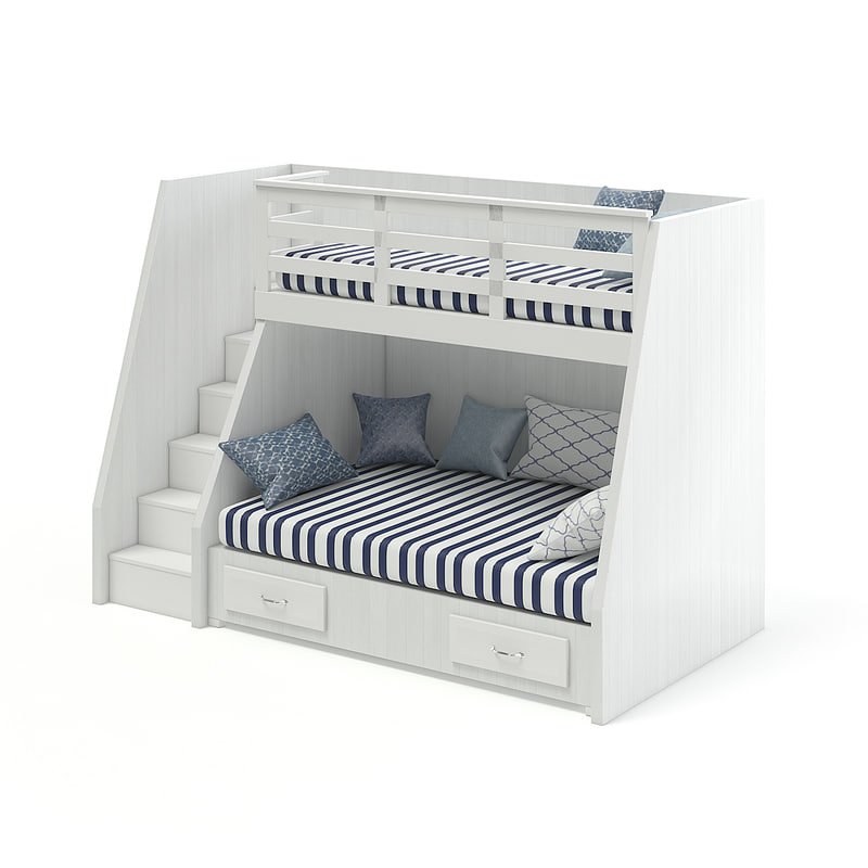 bunk bed stairs 3D