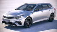kia optima sportswagon 3D