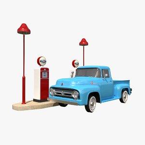 3D model f100 vintage station