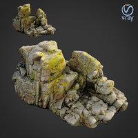 scanned rock cliff model