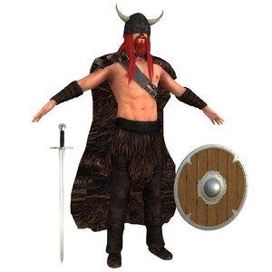 viking erik red 3D model