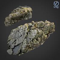 3d scanned rock cliff J