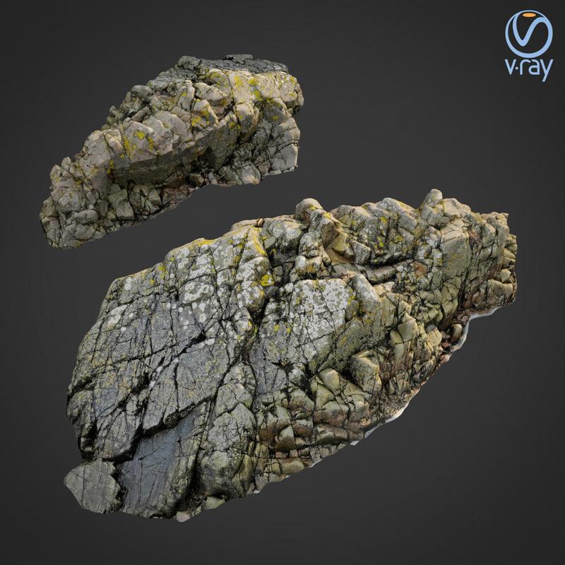 scanned rock cliff j model