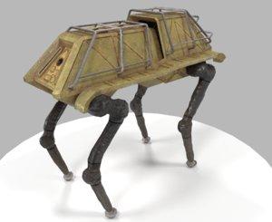 robotic dog 3D