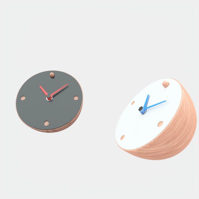 3D model contemporary desk clock