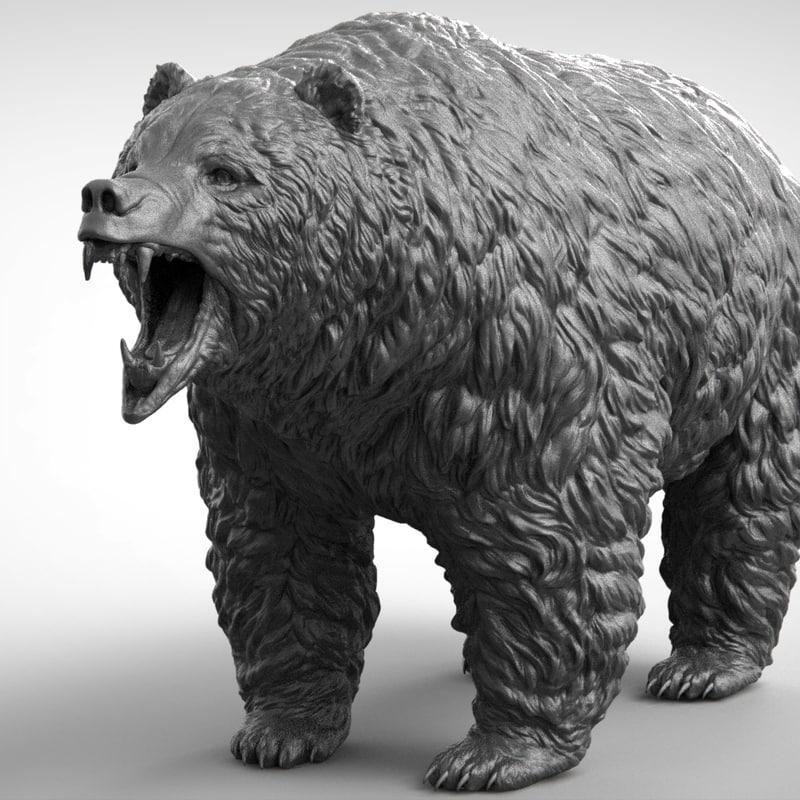 bear realistic 3D model