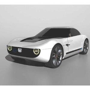 3D honda ev sports model