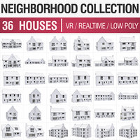 Neighborhood Houses Collection  - 36 Pack