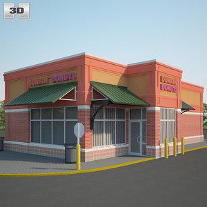 dunkin donuts restaurant 3D model