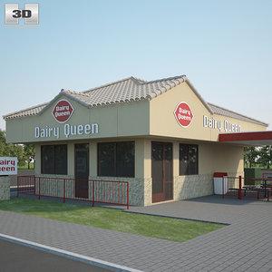 3D model dairy queen restaurant