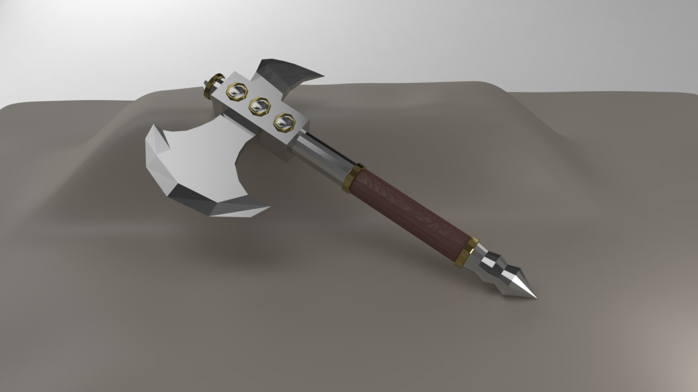 3D axe bladed rpg