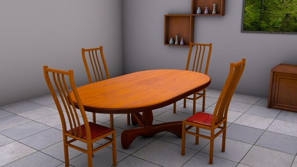 table furniture dining room model