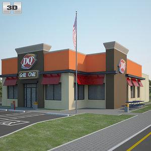dairy queen restaurant 3D model
