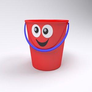 toon bucket 3D