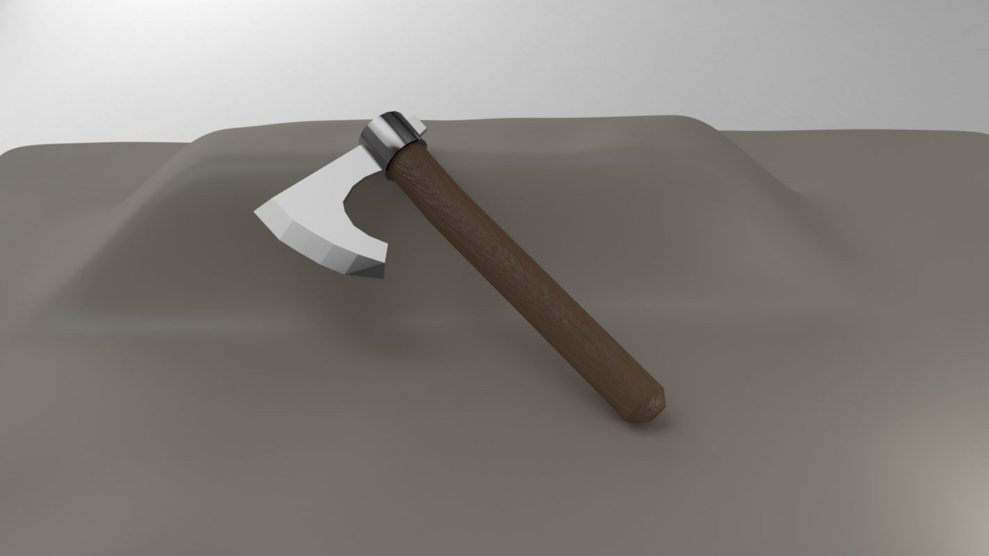 3D hatchet axe rpg