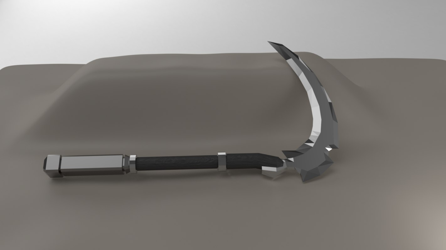 sickle weapon blade model