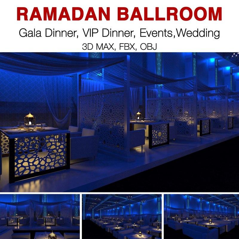 ramadan events functions 3D model