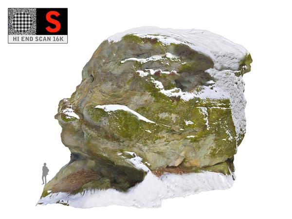 3D rock snow 16k model