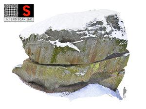 rock snow 16k 3D