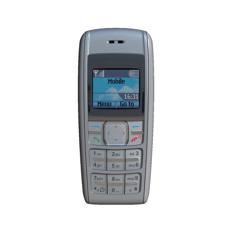 mobile phone nokia 1600 3D model