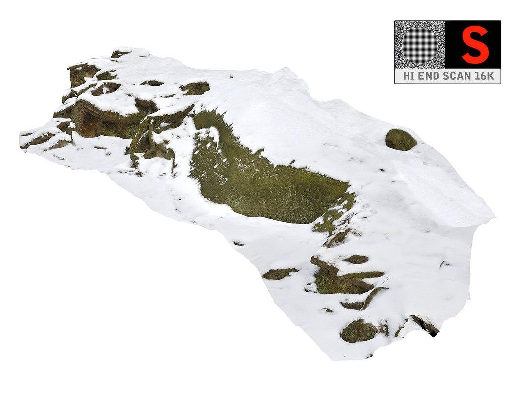 rock snow 16k 3D model