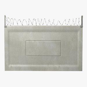concrete fence segment 3D model
