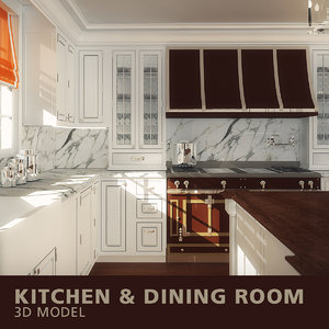 kitchen dining room 3D model