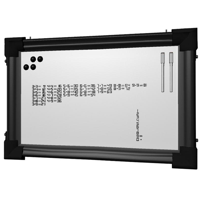 3D model magnetic board