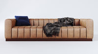 forte channeled saddle sofa model