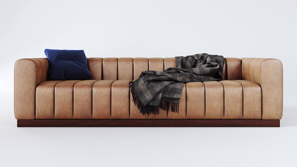 forte channeled saddle sofa model