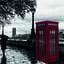 red telephone box model