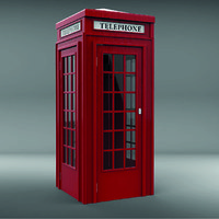 red telephone box model