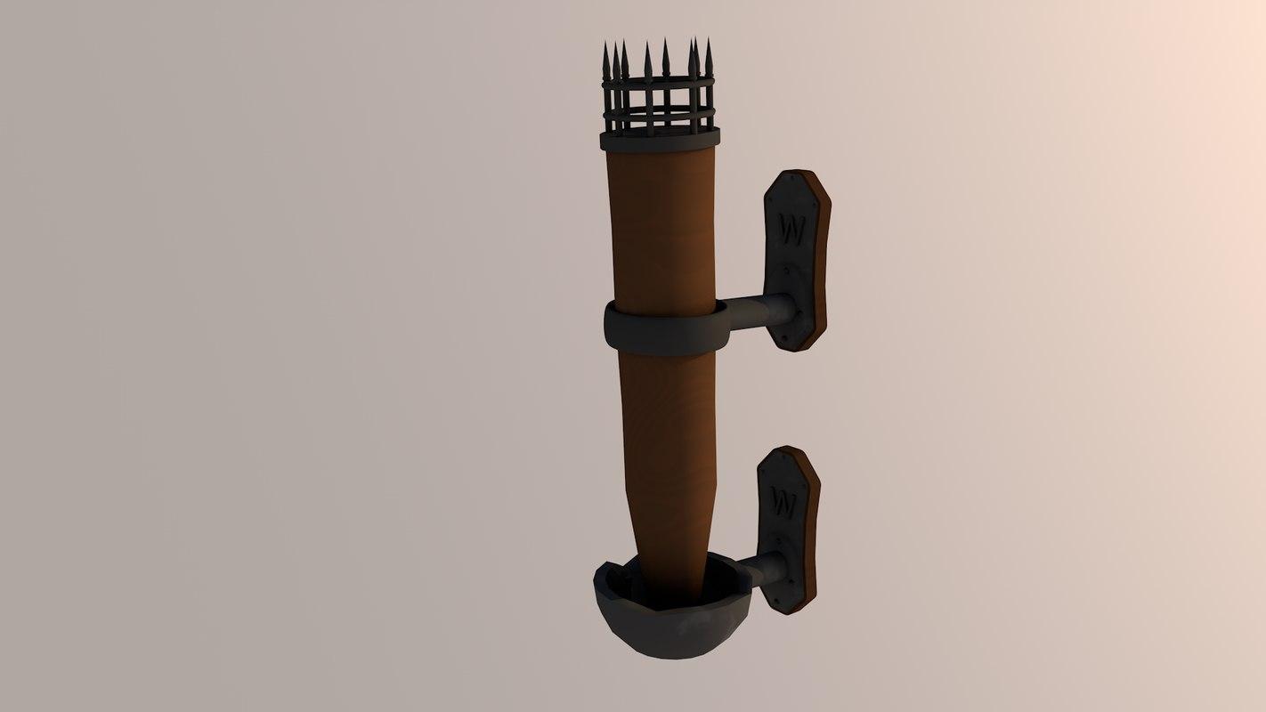 torches 3D model