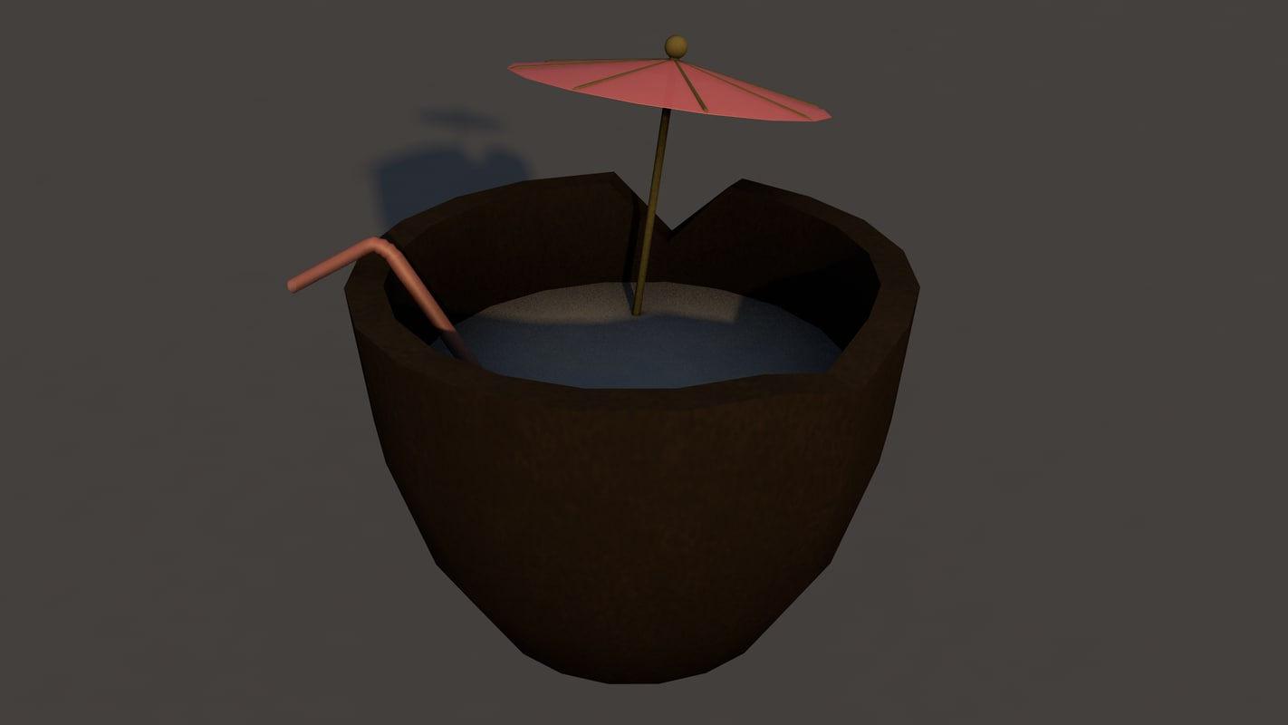 tropical drink 3D model