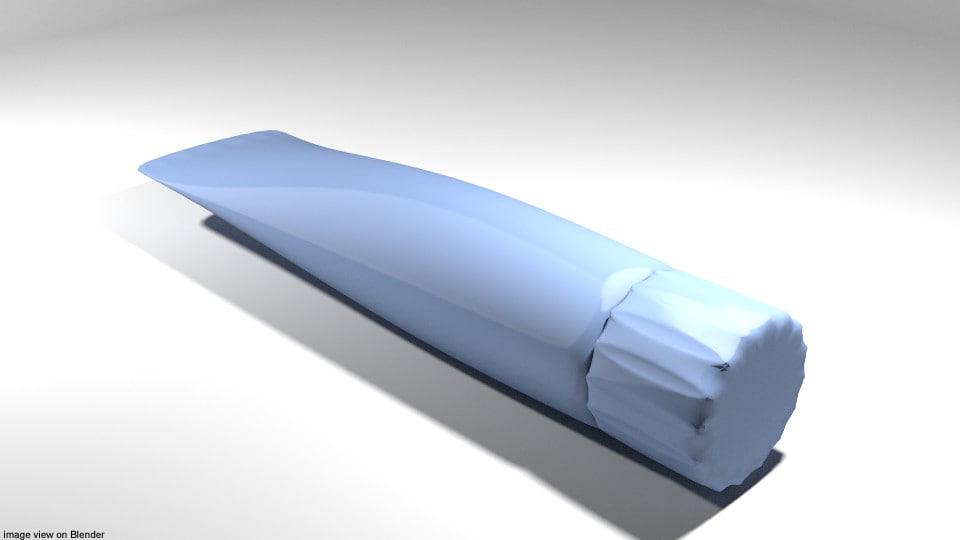 paste toothpaste 3D model