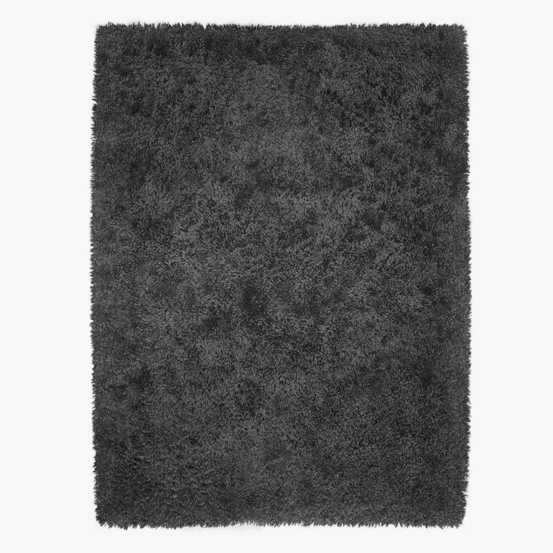 wool mayson black rug 3D